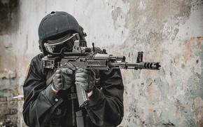 Картинка автомат, Солдат, спецназ, оружие.