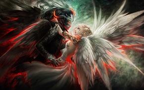 Обои devil, крылья, angel, dance