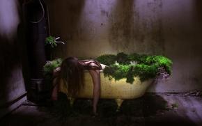 Картинка девушка, поза, ванна