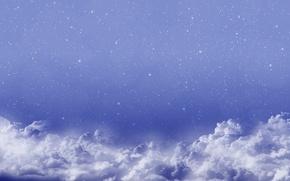 Картинка космос, облака, синий, абстракт, space, clouds
