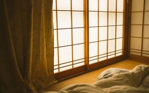 Картинка комната, постель, одеяло