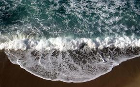 Обои песок, море, пейзаж