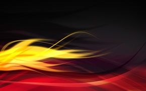 Картинка лучи, линии, огонь, пламя, краски, текстура