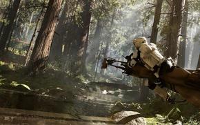 Картинка звездные войны, star wars, Electronic Arts, dice, FPS, Frostbite 3, battlefront, спидер, фронт битвы