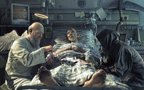 Картинка смерть, юмор, Бог