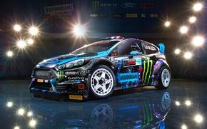 Картинка Ford, Racing, Block, Fiesta, Ken, Division, Hoonigan, 2015, RX43
