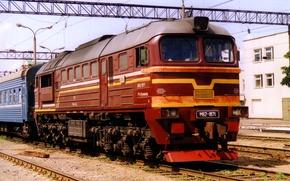 Картинка вокзал, локомотив, дизель