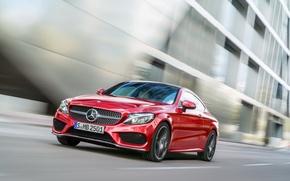 Обои Mercedes-Benz, мерседес, AMG, Coupe, C-class, 4MATIC, 2015, C205