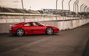 Картинка Феррари, Ferrari, трек, Side, 355