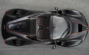 Картинка Ferrari, Чёрный, вид сверху, new, Spider, LaFerrari