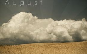 Обои небо, август, поле