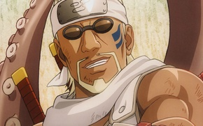 Картинка позитив, очки, щупальца, Naruto, бандана, мускулы, рэпер, ninja, Killer bee, jinchuriki, Наруто Ураганные хроники