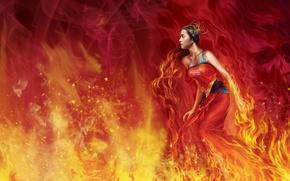 Обои магия, красное, огонь