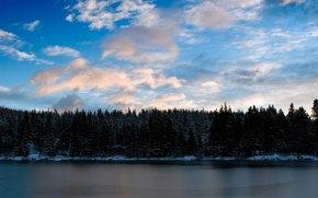 Картинка вода, облака, деревья