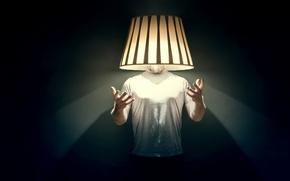Картинка фон, человек, светильник