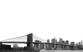 Картинка небо, мост, флаг
