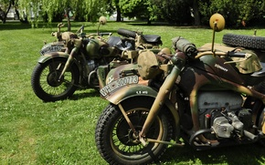 Картинка войны, мировой, Второй, времён, мотоциклы, военные