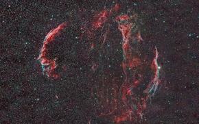 Обои в созвездии, космос звезды, диффузная, Вуаль, туманность, Лебедя