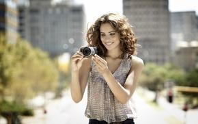Картинка city, girl, Sony, camera, street