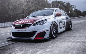 Обои 308, 2016, Peugeot, Racing Cup, гонки, пежо