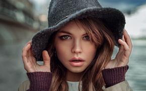 Картинка портрет, Россия, Георгий Чернядьев, шляпка, Анастасия Щеглова, Настя