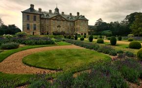 Обои сад, Lincolnshire, Англия, Belton, усадьба, дом, дворец, дизайн
