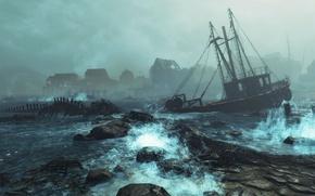 Картинка game, DLC, дополнение, Fallout 4, Far Harbor, длс