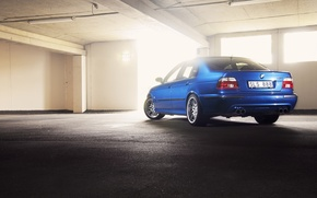 Картинка BMW, E39, Lemans blue