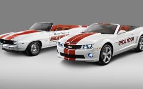 Картинка фото, Белый, Chevrolet, Кабриолет, Две, Camaro, 2011, Автомобили