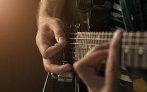 Картинка guitar, hands, ropes