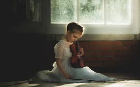 Картинка скрипка, девочка, Whisper of Violin