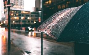 Картинка капли, улица, зонт