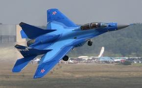 Картинка истребитель, вираж, МиГ-29К, палубная авиация