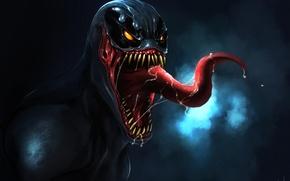 Картинка язык, рот, пасть, art, Marvel, слюни, Comics, Веном, Venom, by TheRisingSoul
