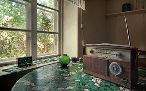 Картинка радио, окно, приёмник