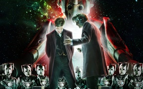 Картинка взгляд, космос, звезды, фантастика, роботы, шахматы, актер, мужчина, киборги, Doctor Who, Доктор Кто, Мэтт Смит, …