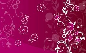 Обои цветы, узоры, abstract, design, flowers, абстакция