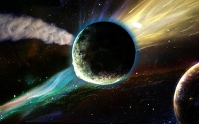 Картинка звезды, планеты, галактика