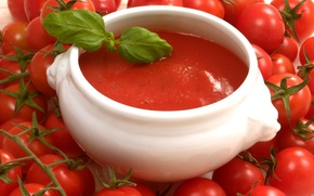 Обои помидоры, супница, томатный суп, томаты