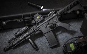 Картинка assault rifle, flashlight, automatic rifle, laser sight