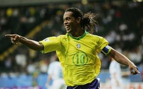 Картинка футбол, football, brazil, barcelona, Ronaldinho, soocer