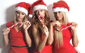 Картинка взгляд, девушки, праздник, сёстры, Diana, Daniela, Denisa