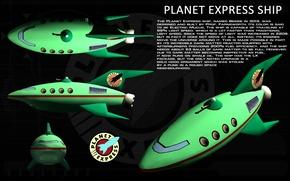 Картинка Futurama, ship, planet express