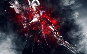 Обои DMC 4, Abstract, Capcom, Nero, Holy Knight, Order of the Sword, Background, Hideki Kamiya, Devil ...