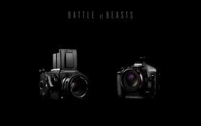 Картинка фотоаппарат, объектив, черный фон