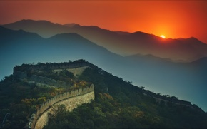 Обои night, wallpapers, china, great wall