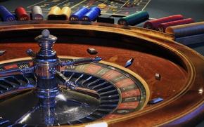 Картинка азарт, игра, рулетка, казино, фишки