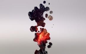 Картинка абстракции, жидкость, форма