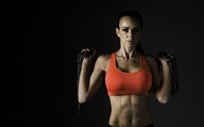 Обои photography, look, female, fitness, chains, sportswear