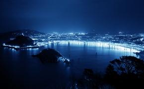 Картинка ночь, город, освещение